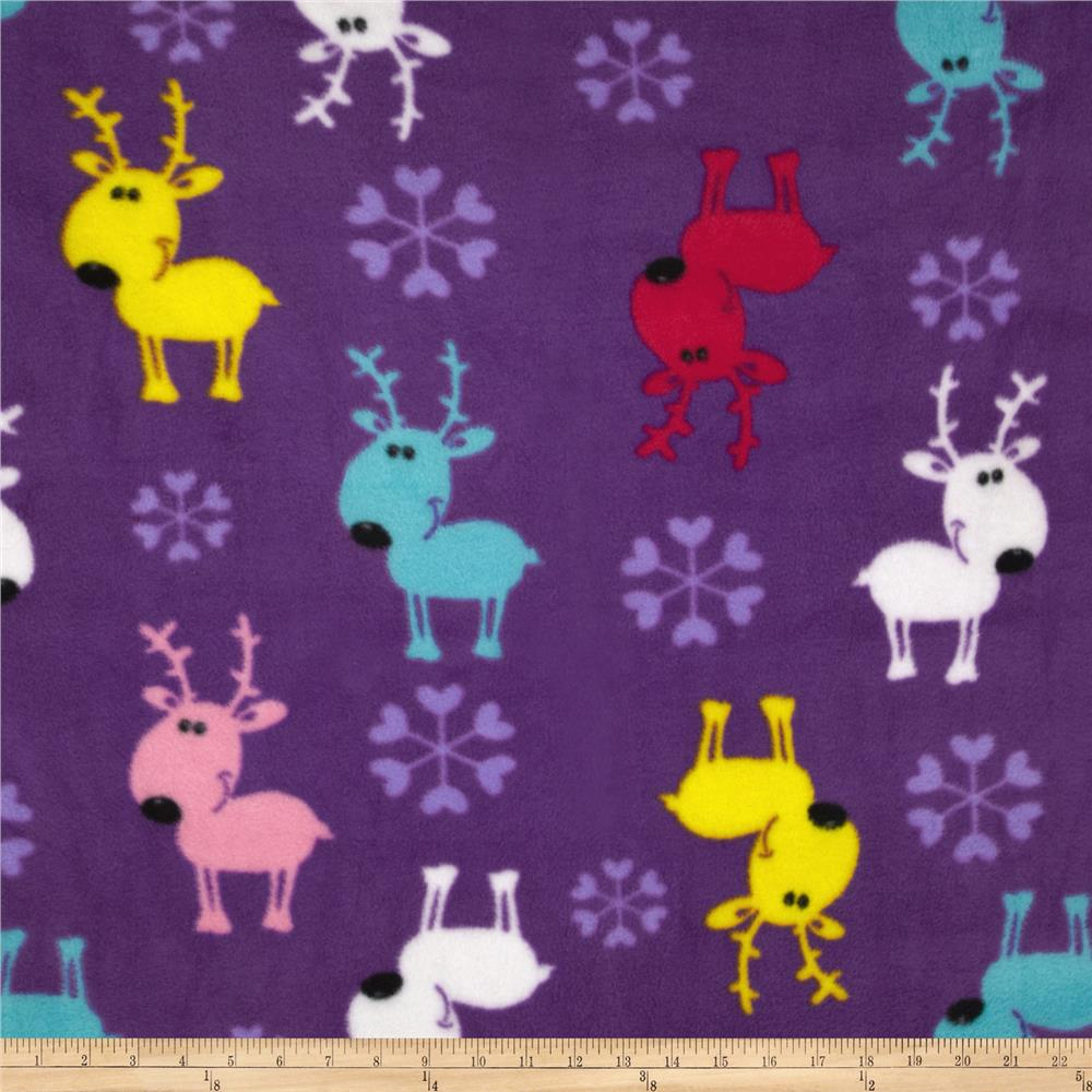 Fleece Deer Purple