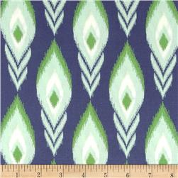 Heather Bailey Momentum Rayon Challis Flight Navy