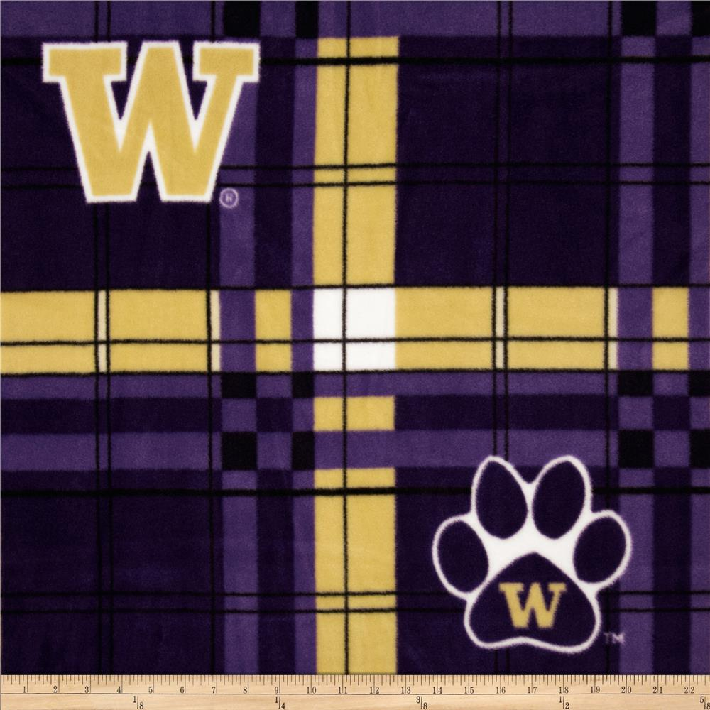 Collegiate Fleece University of Washington Plaid