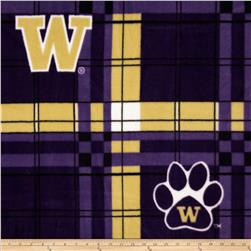 University of Washington Fleece Plaid Purple