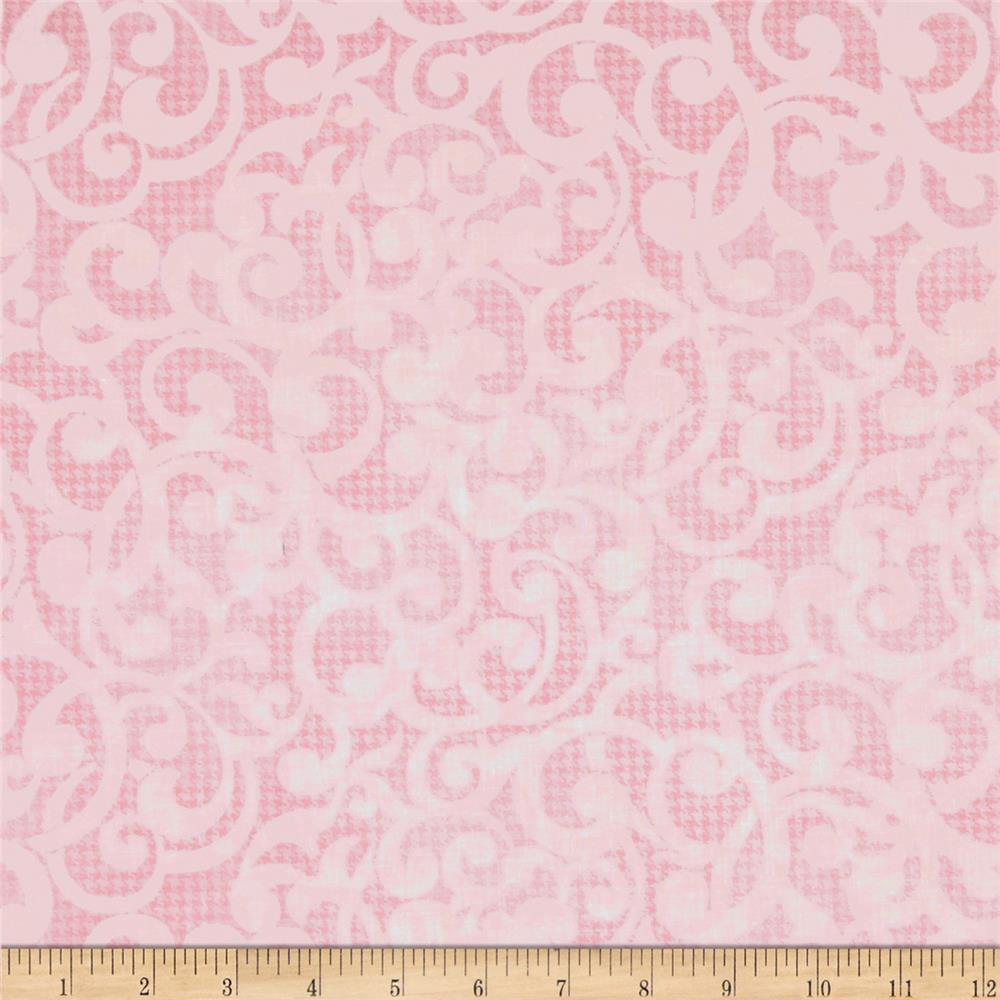 "Filigree 108"" Wide Quilt Backing Pink"