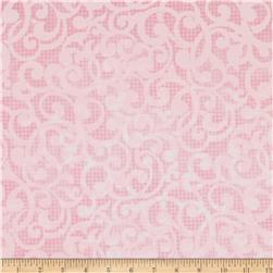 Filigree 108'' Wide Quilt Backing Pink