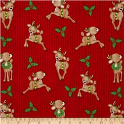 Kringle Krossing Reindeer Red