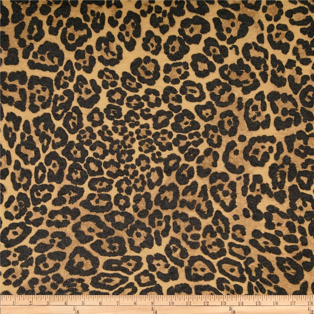Designer Brushed Baby Rib Knit Leopard Gold/Soft Black