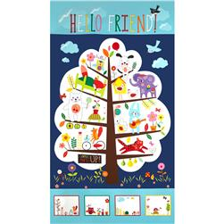 Moda Hello Friend 24 In. Treehouse Panel Grass
