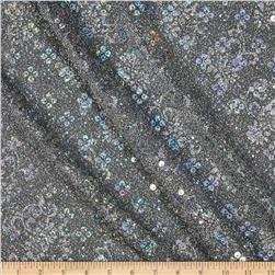 Temptation Embossed Metallic Knit w/ Hologram Sequin Silver
