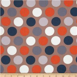 Riley Blake Super Star Flannel Large Dot Tan