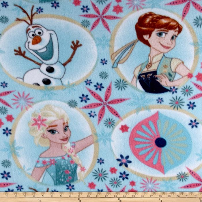 Disney Frozen Fleece Sisters Frozen Fever Frames Light Blue
