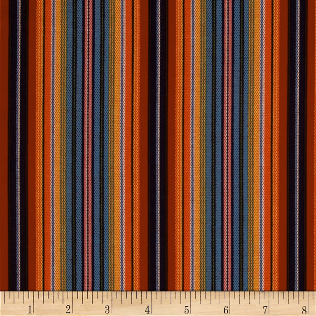 El Camino Serape Stripe Red Fabric
