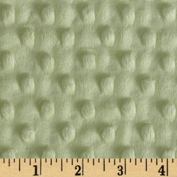 Minky Cuddle Dimple Dot Mint Fabric