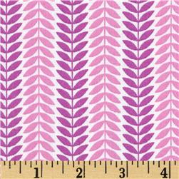 LuLu Leaf Stripe Purple