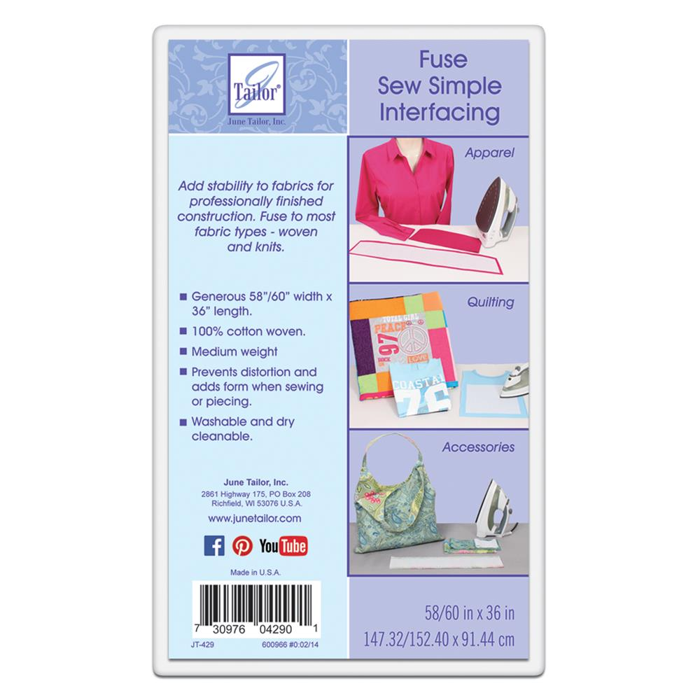 June Tailor Fuse Sew Simple Interfacing