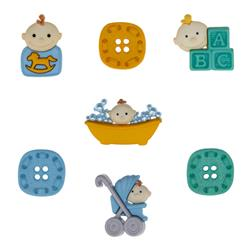 Dress It Up Embellishment Buttons  Baby Fun Boy