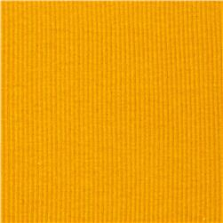 Basic Cotton Rib Knit Solid Yellow Gold