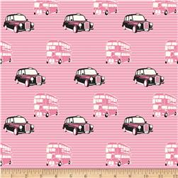 Riley Blake British Invasion Taxi Pink