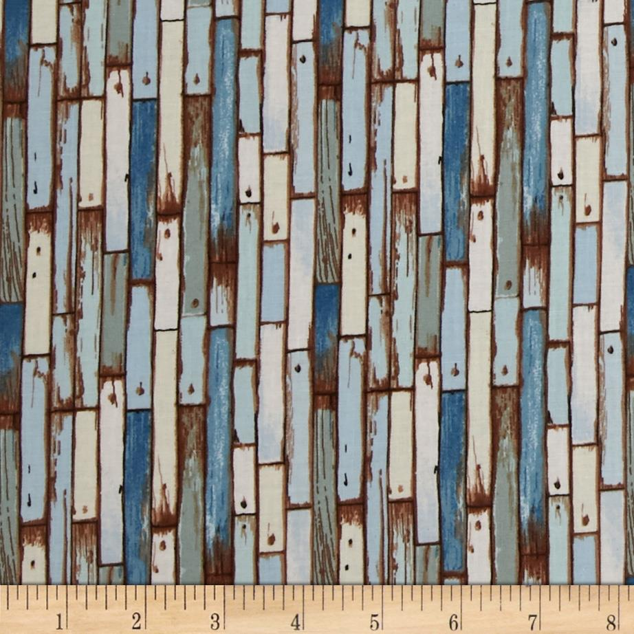 Coastal Planks Blue
