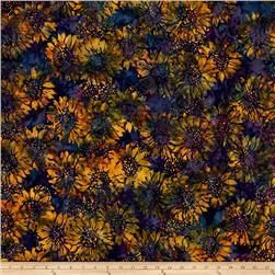 Island Batik Sunflower Blue/Gold