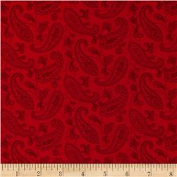Always the Season Tonal Red Paisley