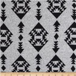 Sweater Knit Trend Aztec Light Grey/Black