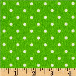 Timeless Treasures Flannel Dot Lime