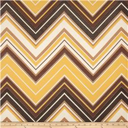 Claridge Surf Chevron Jacquard Summer Squash Fabric
