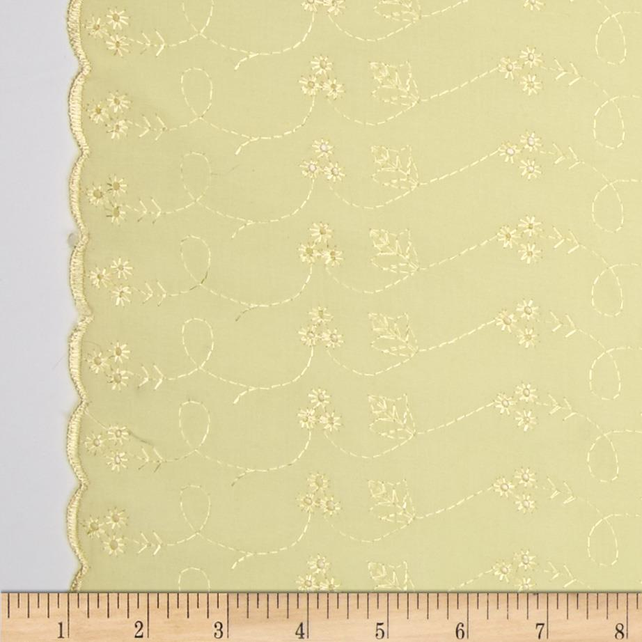Lightweight Embroidered Eyelet Maize