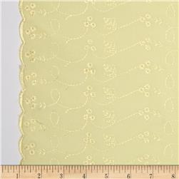 Lightweight Embroidered Eyelet Maize Fabric