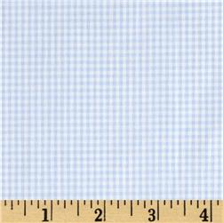 Cotton Gingham Check 1/16'' Blue/White