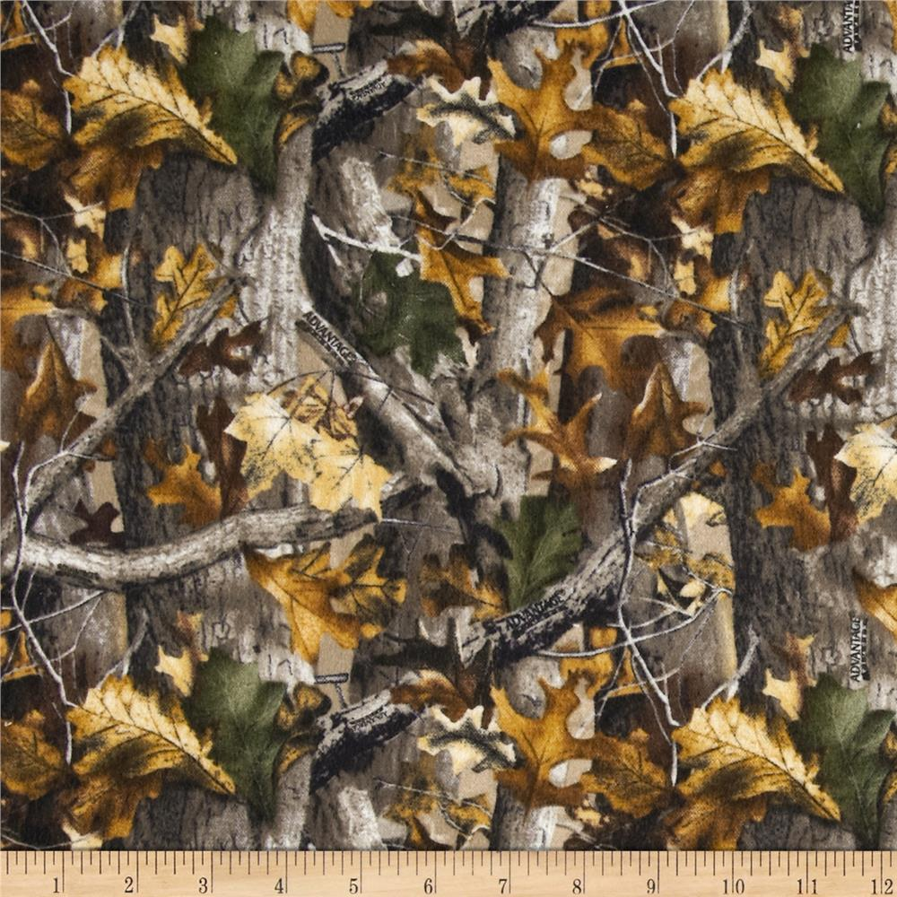 Realtree Flannel Oak Camouflage Discount Designer Fabric