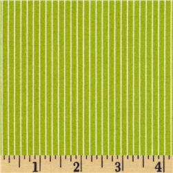 Candy Cane Thin Stripe Green Fabric