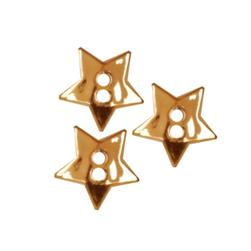 Novelty Button 1/2'' Gold Star