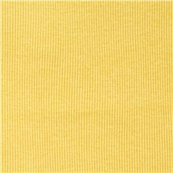 Cotton Rib Knit Mustard Yellow