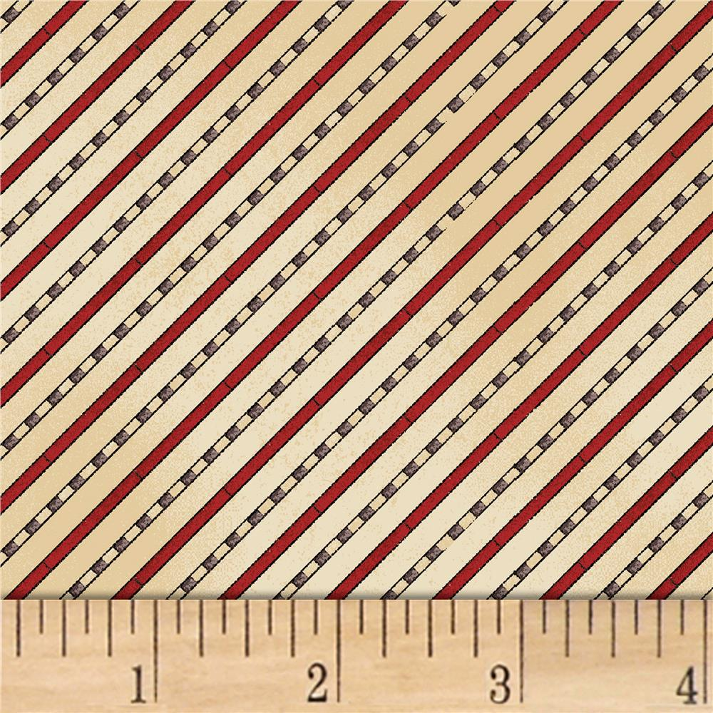 Galileo Diagonal Stripe Cream