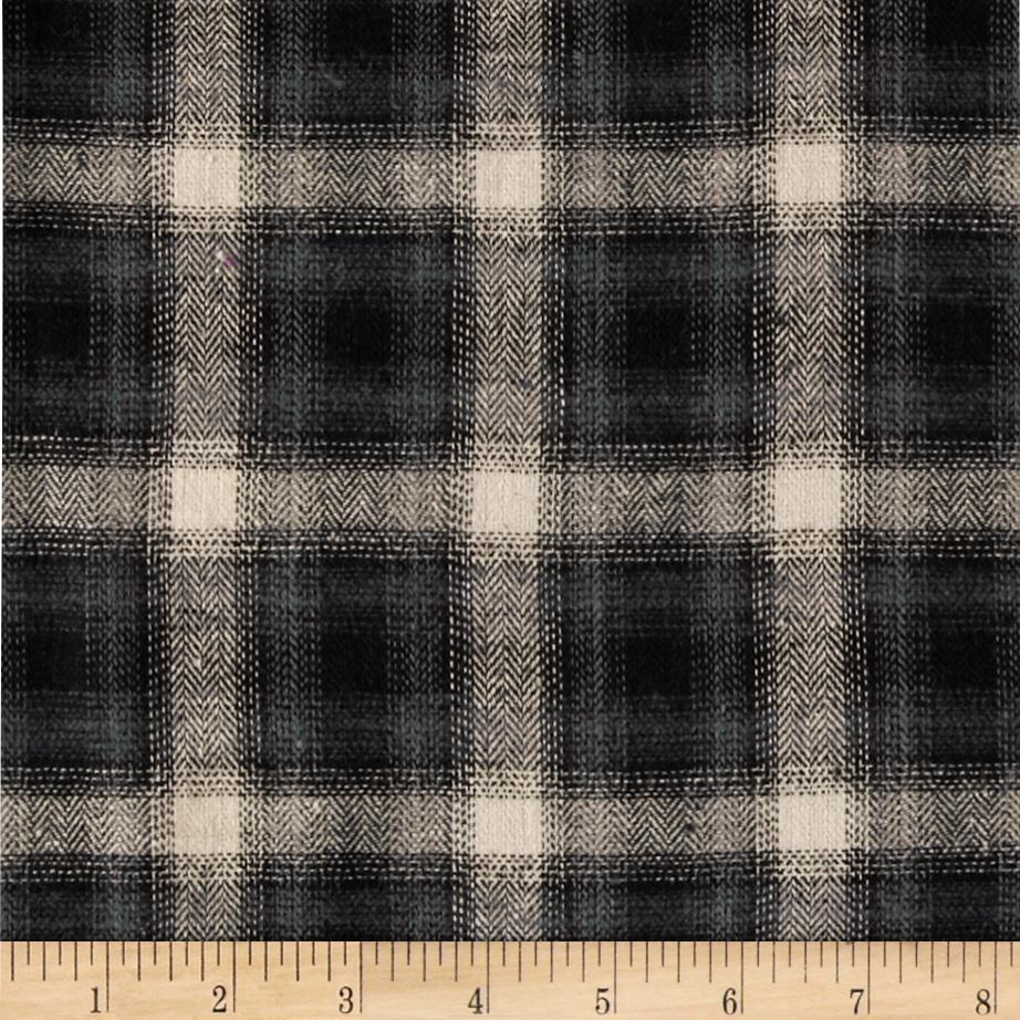 Cotton Flannel Yarn Dyed Plaid Cream/Grey