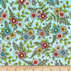 Maywood Studio Roam Sweet Home Wild Flowers Aqua
