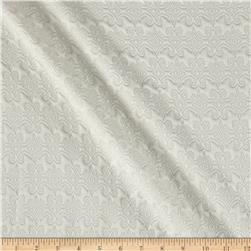 Quilted Knit Vector Fleur White