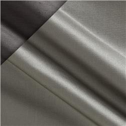Silk Satin Shantung Smoke Grey