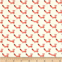 Seven Islands Double Gauze Foxes White