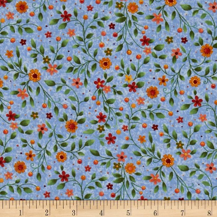 Bird Song Floral Blue