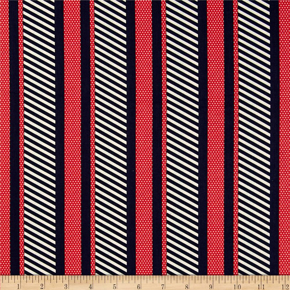 Kanvas Cabana II Dotted Stripe Navy/Red