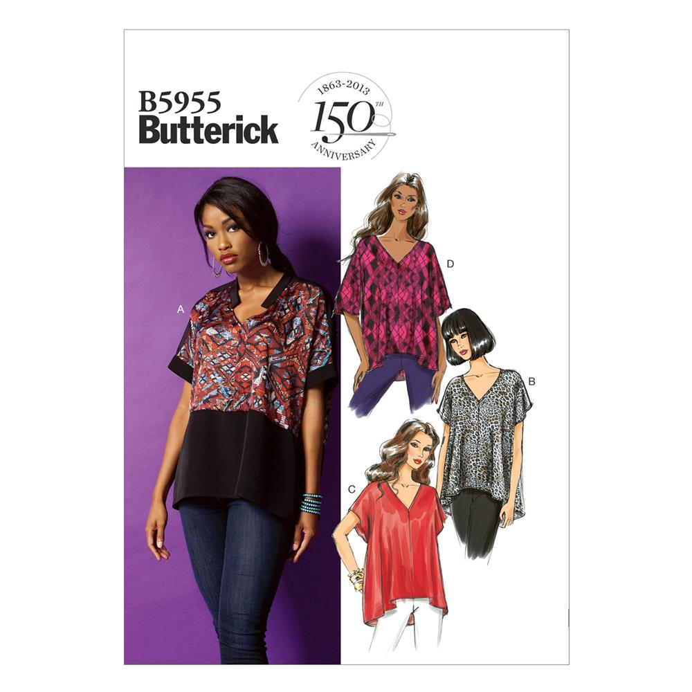 Butterick Misses' Top Pattern B5955 Size 0Y0
