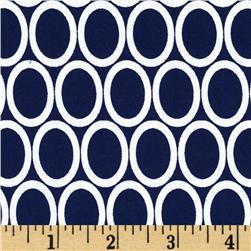 Remix Ovals Navy Fabric