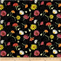 Breezy Blooms Toss Black/Multi