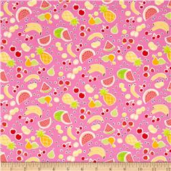 Michael Miller Novelties Yummy Fruits Pink