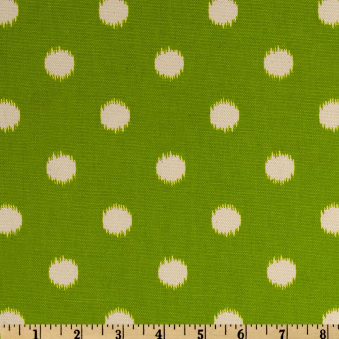 Premier Prints Ikat Dots Grasshopper Green/Natural Fabric