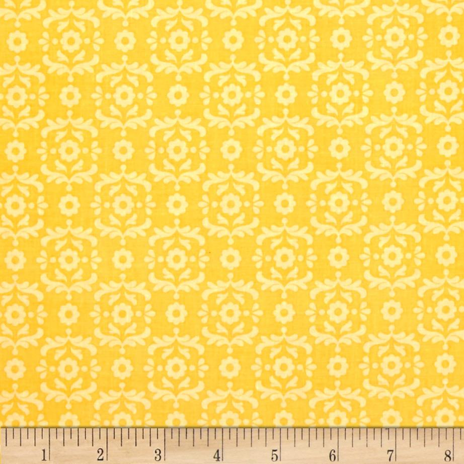 Riley Blake Summer Song 2 Damask Yellow