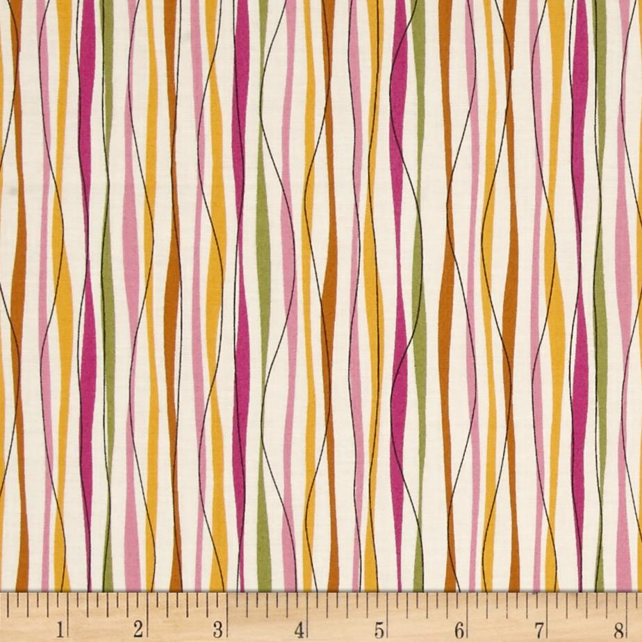 So Chic Stripe Cream/Magenta