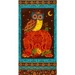 Moda Forest Fancy 24 In. Owl Panel Autumn