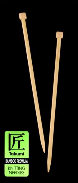 Clover Takumi Bamboo Premium Knitting Needles Single Pt. 13'' US 11 (8mm)