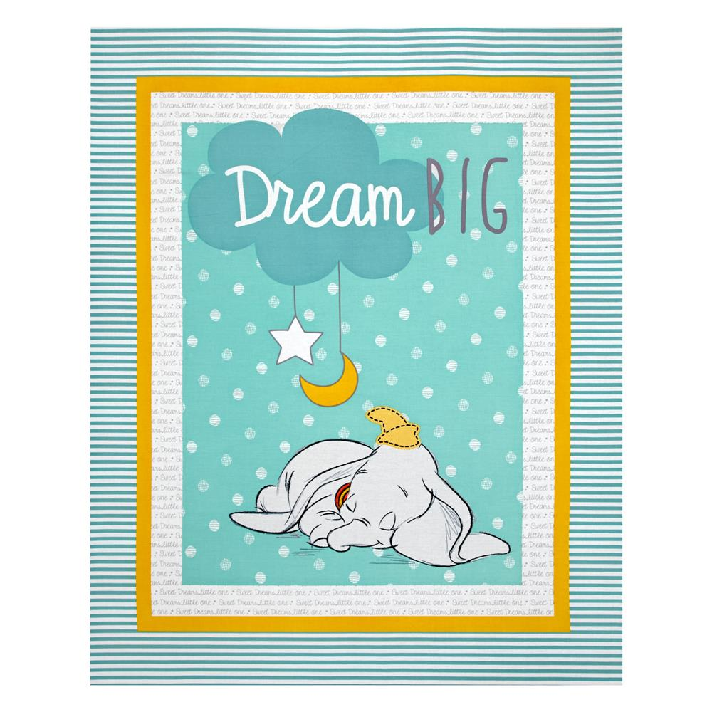 Disney Dumbo Sweet Dreams 36 In. Panel Mint